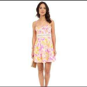 Lilly Pulitzer Lenore Lace Cut Out Dress Sz 6